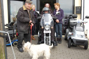 Paul on his brand new Easy Rider 'Harley Davidson style' mobility scooter