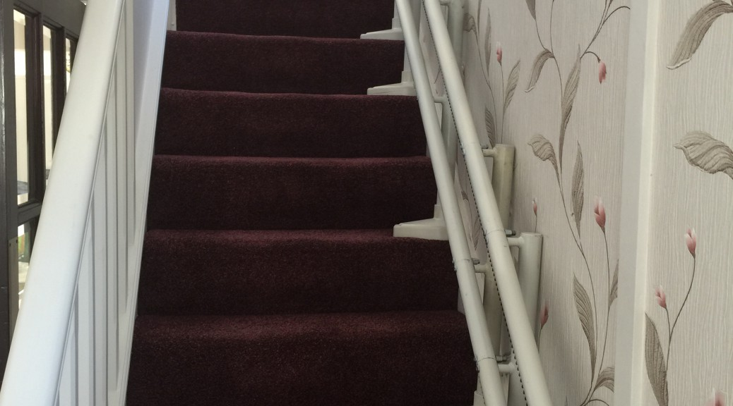 One of All Terrain Mobility's curved made to measure stairlifts!