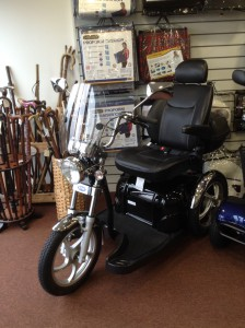 The ATM Easy Rider Harley Davidson Style Mobility scooter - on display at All Terrain Mobility (near Southend, Essex)