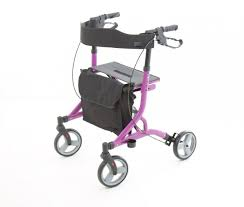 One Rehab Zoom Rollator- in Pink at All Terrain Mobility near Southend in Essex