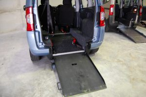 This All Terrain Mobility / Essex WAV's Fiat Qubo Wheelchair accessible vehicle has plenty of space to store your wheelchair/ mobility scooter .