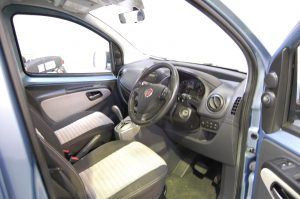 This All Terrain Mobility / Essex WAV's Fiat Qubo has a pristine interior to match the gleaming exterior.