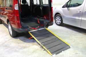This Essex Wav's / All Terrain Mobility Fiat Qubo has a lowered floor, electric ramp and winch to allow easy access for your wheelchair / mobility scooter