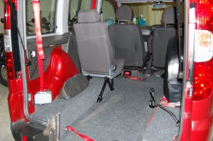 This All Terrain Mobility / Essex WAV's Fiat Doblo Wheelchair accessible vehicle has plenty of space to store your wheelchair/ mobility scooter .