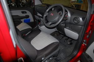 This All Terrain Mobility / Essex WAV's Fiat Doble has a pristine interior to match the gleaming exterior