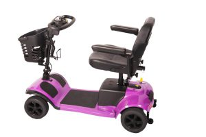 The All Terrain Mobility travel mobility scooter in candy Pink colour.