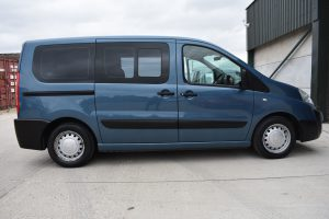 A Peugeot Expert Independence Wheelchair Accessible Vehicle in blue
