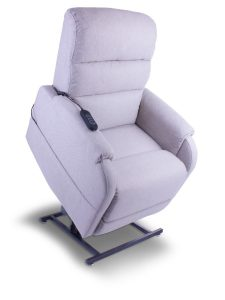 Small dual motor rise and recline chair / lift chair in pale grey